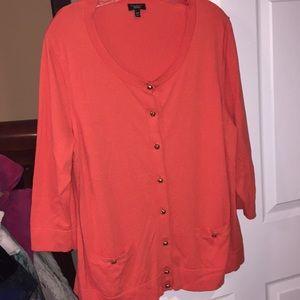 Talbots orange sweater